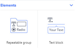 repeatable group, text block - completely customize the form's layout