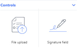 file upload, signature field - completely customize the form's layout